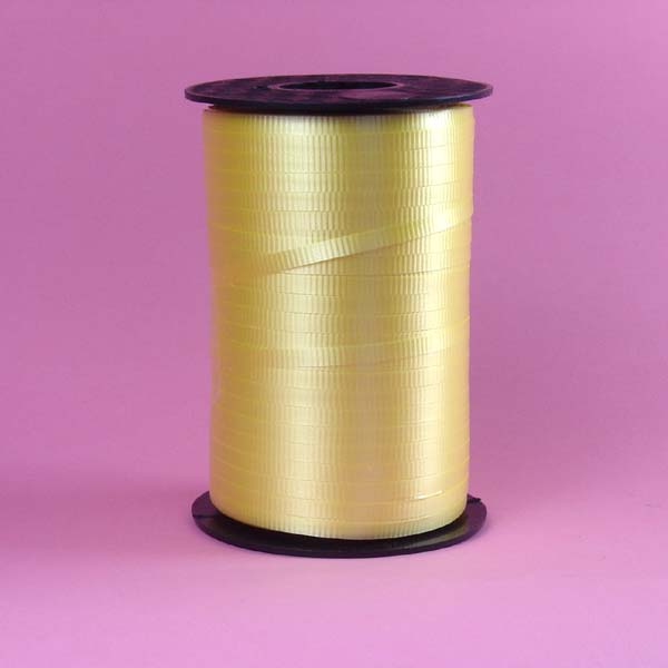 3/16  crimped curling ribbon-500yds/roll, YELLOW